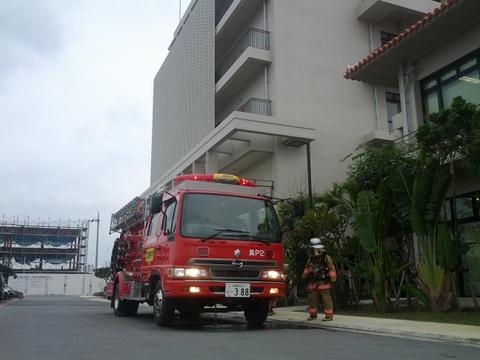 うるま市消防本部の消防車