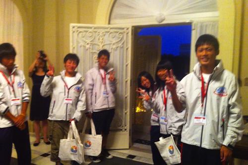 Tohoku Youth Sailors Expedition の皆さんにお見送りしてもらいました