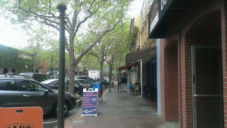 Palo AltoのメインストリートであるUniversity Avenue