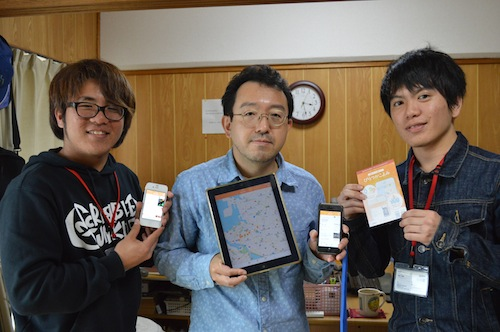 同じくインターン生の和宇慶さんと萩野さんを囲んでの1ショット